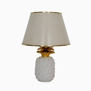 Vintage Ceramic Pineapple Lamp