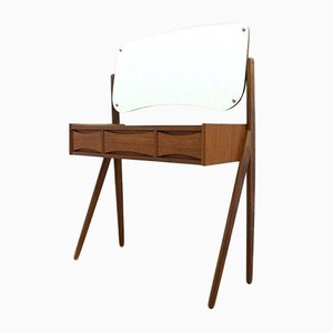 Mid-Century Danish Teak Dressing Table Vanity by Arne Vodder, 1950s