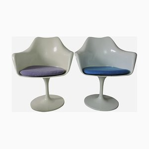 Vintage Tulip Armchairs by Eero Saarinen for Knoll, Set of 4