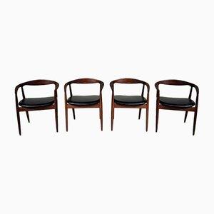 Chaises de Salon Troja Mid-Century par Kai Kristiansen pour Magnus Olesen, Set de 4