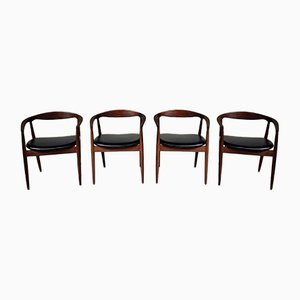 Mid-Century Troja Dining Chairs by Kai Kristiansen for Magnus Olesen, Set of 4