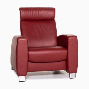 Roter Arion Function Armlehnstuhl aus Leder von Stressless