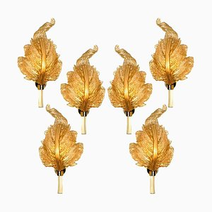 Large Gold Murano Glass Wall Sconce from Barovier & Toso, Italy, 1960s