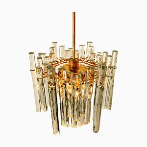 Crystal and Gilt Metal Chandelier from Kinkeldey, Germany, 1970s