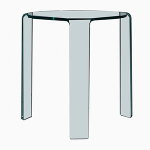 Italian Glass Side Table by Alvar Aalto for Fiam, 1980s