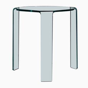 Italienischer Beistelltisch aus Glas von Alvar Aalto für Fiam, 1980er