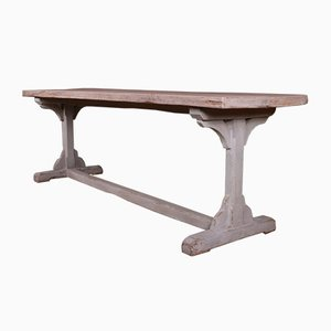 English Trestle Table, 1840s