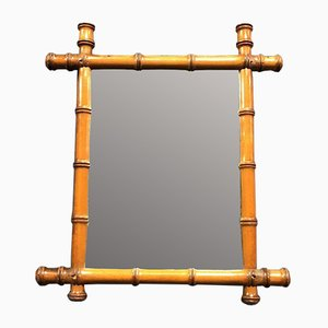 Small Weathered Faux Bamboo Mirror