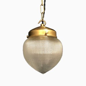 Small Holophane Hanging Lamp, 1930s