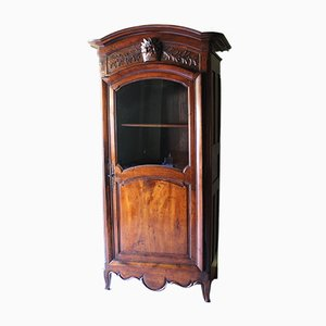 18th Century Louis XV Walnut Display Cabinet