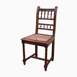 19th Century Walnut Dining Chairs, Set of 10