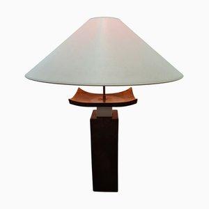 Große französische Tischlampe aus Keramik & Messing von Francois Chatain, 1970er