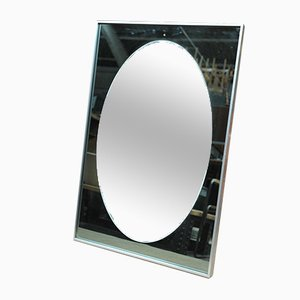 Aluminum and Glass Mirror by Knitter Duro, 1980s