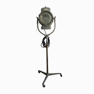 Large Vintage Tripod Cinema Beacon Floor Lamp from Dante Rispoli Roma