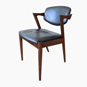 Rosewood Model 42 Dining Chairs by Kai Kristiansen for Schou Andersen, 1960s, Set of 6