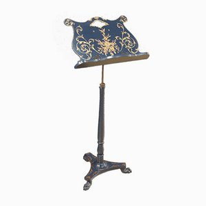 French Lacquered and Painted Lectern, 1970s
