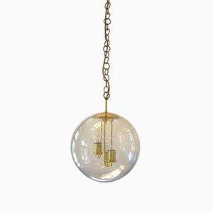 Large Mid-Century Round Brass Sputnik Pendant Lamp from Doria Leuchten, 1960s
