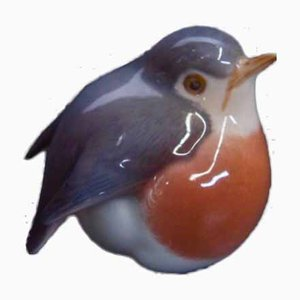 Mid-Century Porcelain Bird Figurine from Royal Copenhagen