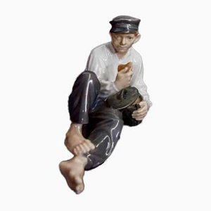 Antique Porcelain Man Figurine from Royal Copenhagen