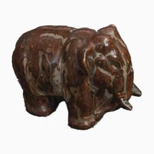 Elephant Figurine by Knud Khyn for Royal Copenhagen, 1950s