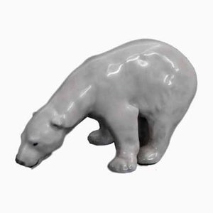 Figurine Ours Blanc par J.Bonnesen pour Royal Copenhagen, 1970s