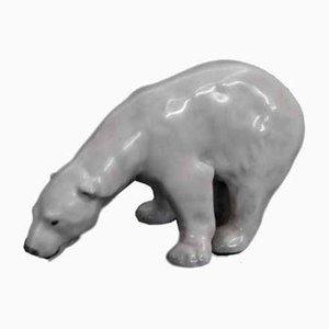 White Bear Figurine by J.Bonnesen for Royal Copenhagen, 1970s