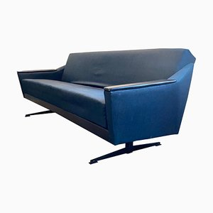 Mid-Century German Grey Blue Fabric Daybed, 1950s