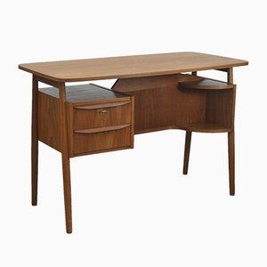 Mid-Century Danish Teak Desk by Gunnar Nielsen Tibergaard for Tibergaard, 1950s