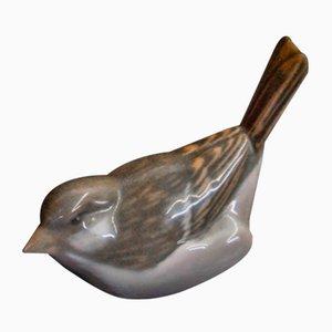 Vintage Porcelain Sparrow Figurine from Royal Copenhagen, 1960s