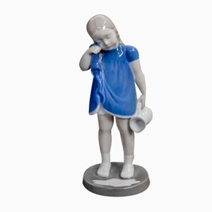 Porcelain Girl Figurine from Bing & Grondahl, 1950s