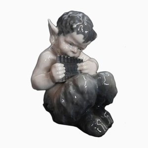 Porcelain Faun Figurine from Royal Copenhagen, 1960s