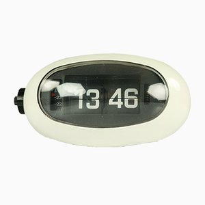 Japanese Model LW-12 or 5RD005 Egg-Shaped Folding Numbers Alarm Clock, 1970s