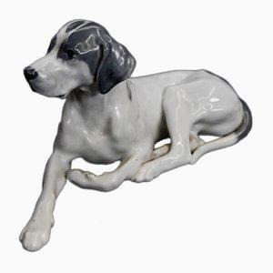 Vintage Nr. 1635 Hundefigur mit Porzellanspitze von Royal Copenhagen