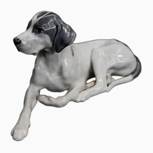 Vintage Nr. 1635 Porcelain Pointer Dog Figurine from Royal Copenhagen