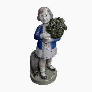 Vintage Girl with Flowers Figurine from Royal Copenhagen, 1960s