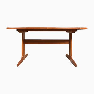 Mid-Century Oval Teak Dining Table from Skovby, 1960s