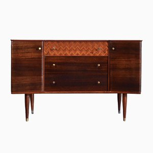 Mid-Century Walnut and Teak Sideboard from Uniflex, 1960s