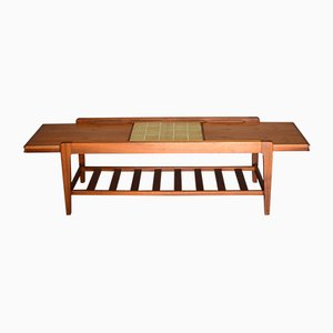 Extendable Slatted Coffee Table in Teak from Remploy, 1960s