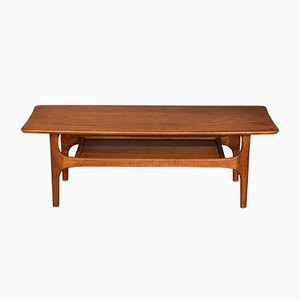 Mid-Century Teak 2-Tier Coffee Table, 1960s