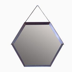 Mid-Century Hexagonal Teak Mirror