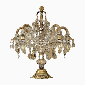 Large Vintage Maria Teresa Style Crystal Table Lamp