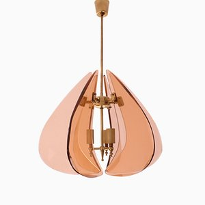 Mid-Century Ceiling Lamp in the Style of Cristal Art