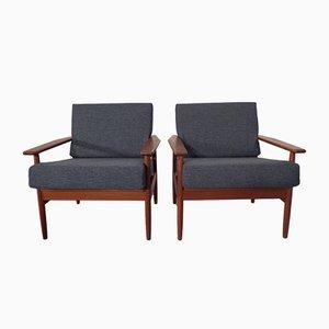 Dänische Sessel aus Teak, 1960er, 2er Set