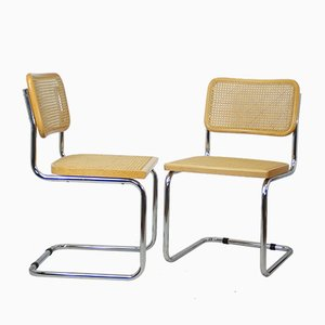 Mid-Century Dining Chairs, 1980s, Set of 2