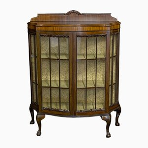 Vintage Chippendale Style Mahogany Cabinet, 1920s