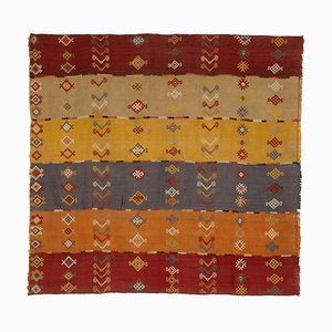 Vintage Turkish Geometric Kilim Rug, 1970s