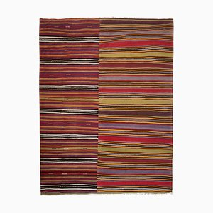 Vintage Striped Goat Hair Kilim Rug, 1970s
