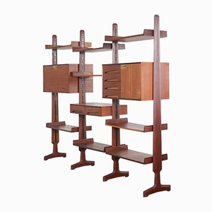 Modular Teak Wall Unit by Edmondo Palutari for Dassi, 1950s