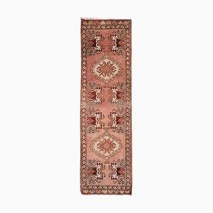 Vintage Oriental Wool Runner Rug, 1970s