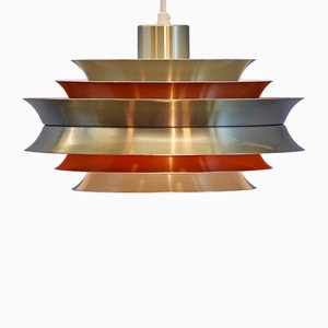 Swedish Brass Model Trava Ceiling Lamp by Carl Thore / Sigurd Lindkvist for Granhaga Metallindustri, 1960s